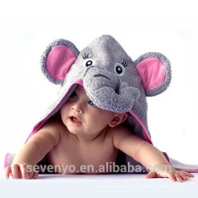 China factory 100% bamboo pink girls elephant baby Hooded towel high quality premium baby bath towel towel baby