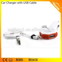 Car Charger móvil para Iphone / Samsung / Car Mount Dual USB Mini Cargador
