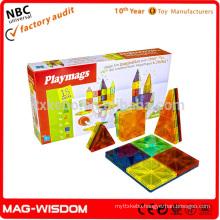 Playmags 2016 Magnetic Building Tile Blocks Magna Hot Tiles 18pcs