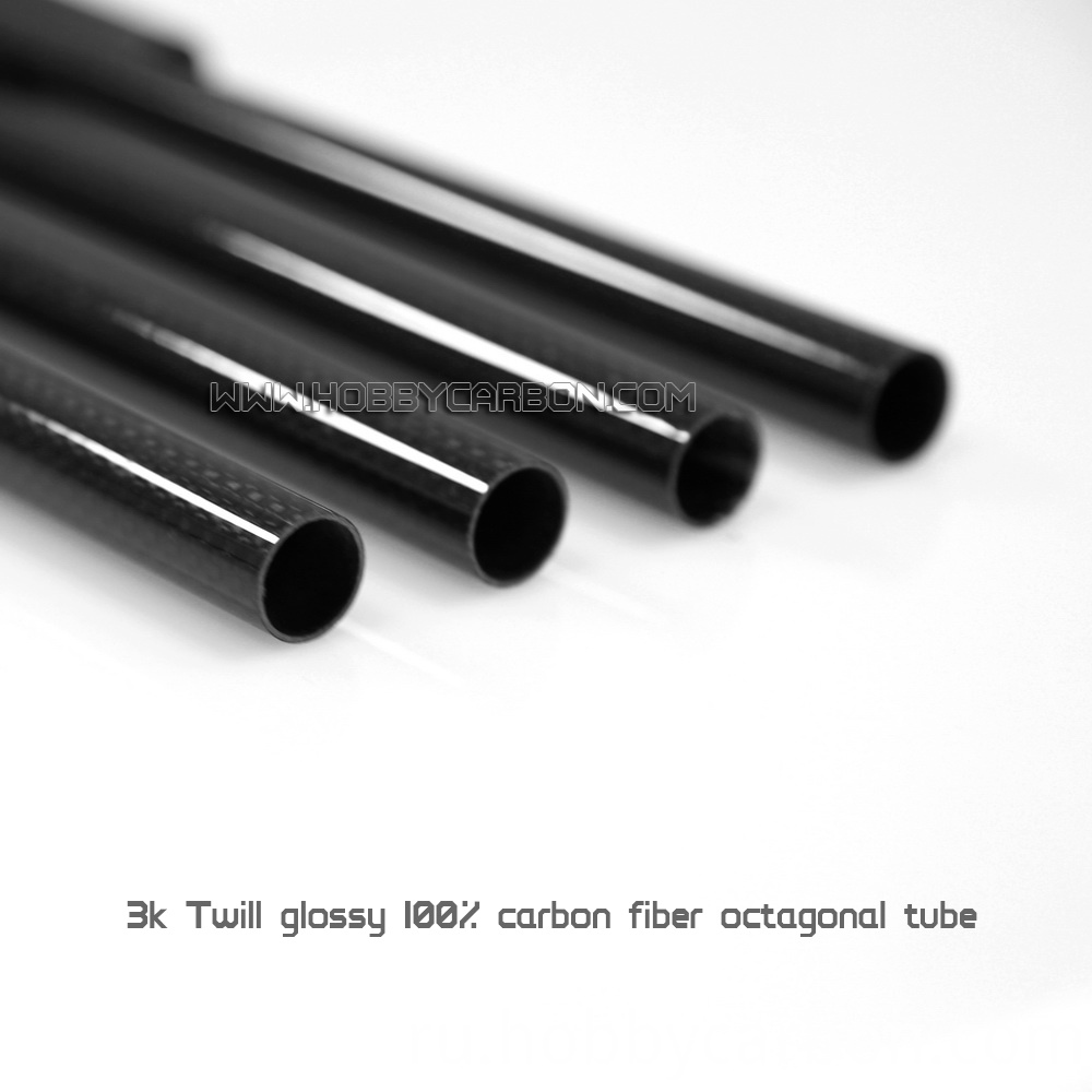 Gloss twill carbon fiber tubes