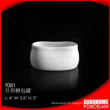 suitable for restaurant stock china white wholesale sugar pot