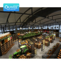 Good Quality Convenience Food Store Shelf Tray Wooden Fruit Vegetable Display Rack Supermarket Shelves Commercial