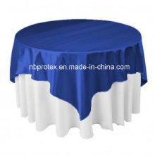 De alta calidad azul real satinado decoraciones de boda superposición