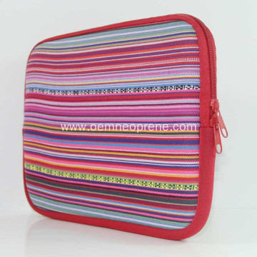 Fashionable Striped Reliable Quality Neoprene Laptop Bags