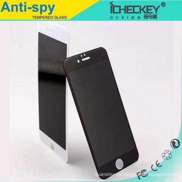 El protector de pantalla de cristal templado anti-espía anti-huella digital al por mayor de la cubierta completa para el iphone 6, privacidad moderó el vidrio para el iphone 6