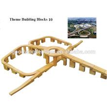 Venda de fábrica EZ1085 573pcs School Solid Wooden Blocks Toy