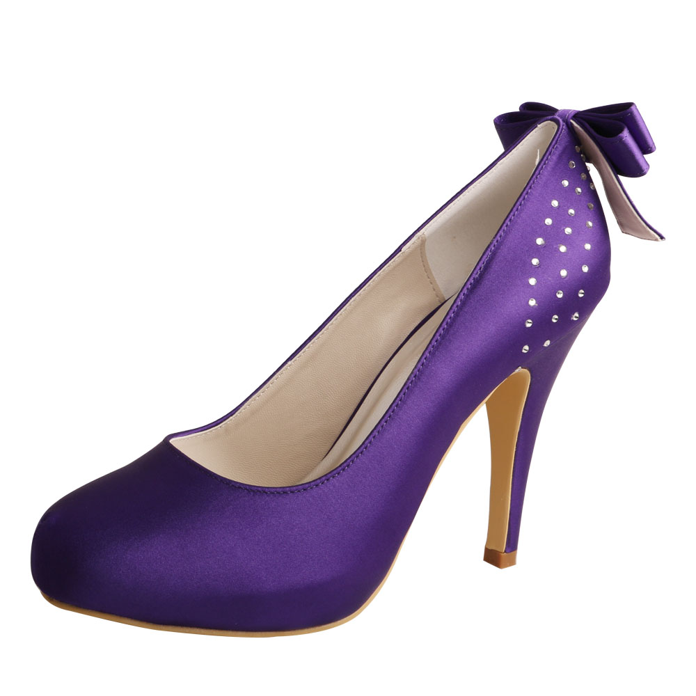 purple party shoes
