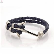 Завод прямой высокое качество дизайн оптом теннисный якорь кожаный браслет