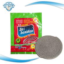 Bobine de moustique à fibre végétale incassable fabriquée / 140mm Vente chaude en Afrique Bobines de moustiques à fibre végétale