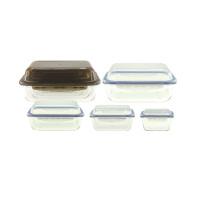 Lancheira de vidro para micro-ondas com tampa hermética