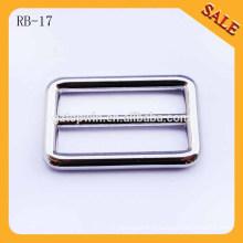 RB17 Bague à boucle nickel personnalisée, boucle de fermeture côté logo