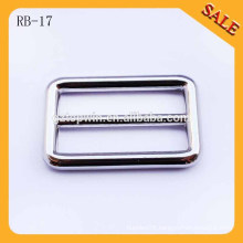RB17 Custom handbags nickle loop ring,logo side release buckle