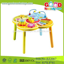 multifunctional wooden table beads wooden table toys colorful beads wooden toys table