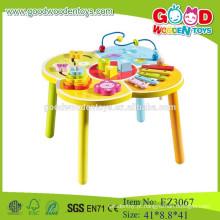 Contas multifuncionais de mesa de madeira mesa de madeira brinquedos contas coloridas mesa de brinquedos de madeira