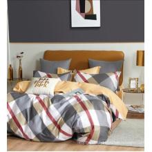 Grid Square Printed Bedsheet Set