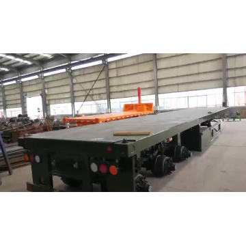 Container 3 axles 40ft  lowbed semi-trailer