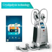 Новейшие оборудованы четыре рабочих головки липосакция cryolipolysis Тучная растворяя ручка красоты машина для похудения (ETG50-4S с)