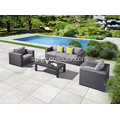 Garden Aluminum 4 Piece Sofa Chat Set