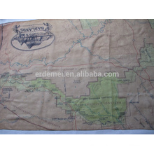 USA park map scarf supplier/polyester voile scarf