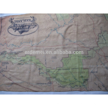 USA park map foulard fournisseur / polyester voile scarf