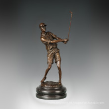 Estatua Deporte Estatua Golf Masculino Escultura De Bronce, Milo TPE-779