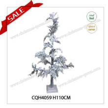 Árbol de Navidad del ornamento de la decoración de la alta calidad del estilo PE con nieve