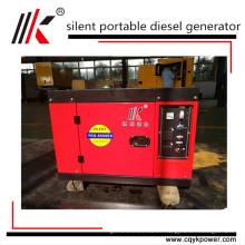 pequeño generador silencioso portátil silencioso del inversor diesel de 2kw a 12kw 15kva