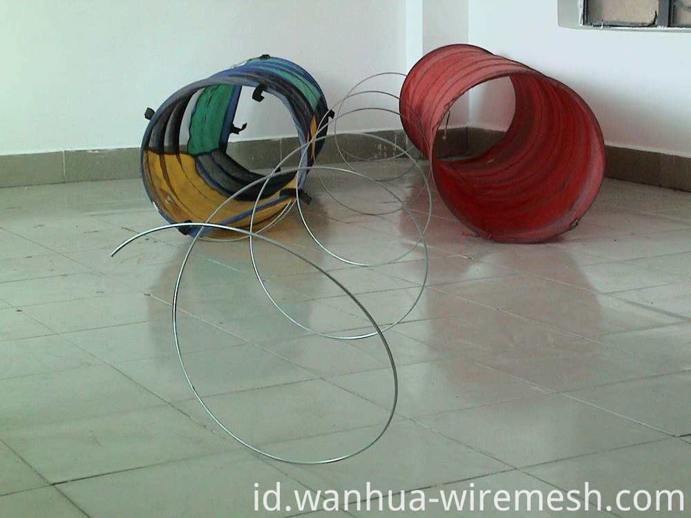 Spool packing oval hot-dipped galvanized steel wire (1)
