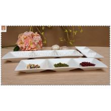 3 pratos de compressão de porcelana branca conectiva2014