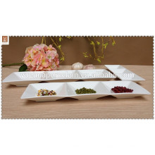 3 соединительных белых фарфоровых чашечных блюда2014
