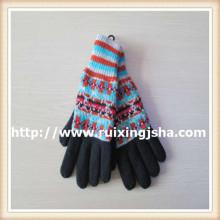 Женщины снежинка толстые трикотажные перчатки
