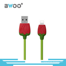 Colorful Rose USB Data Cable with Lightning Micro Connector