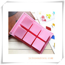 16 Cavity Oval Silicone Mold for Soap, Cake, Cupcake, Brownieand More (HA36020)