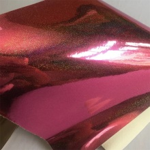 Mirror PU Glitter Polyester Leather  for Garments