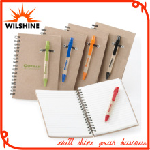 Best Selling Customized Kraft Paper Cover Spiral Notebook (SNB123)