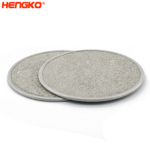 Porous Metal Sintered Stainless Steel 316L Seamless Filter Plate For Oxide Powders Filtration