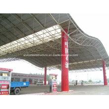 Sichere und zuverlässige Stahlkonstruktion Tankstelle Baldachin