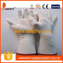Guantes de poliéster de algodón natural con manguito largo Dck712
