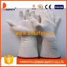Natural Cotton Polyester Gloves with Long Cuff Dck712