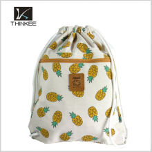 Give Away Usine Prix Logo Imprimé 210D Polyester Drawstring sac à dos sac