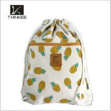 Раздавать логотип Цена по прейскуранту завода печатных 210d полиэстер шнурок рюкзак мешок