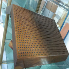 Paneles de panal de aluminio de textura de madera para decoración de interiores