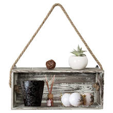 Custom wholesale 7x17 Rustic Torch Wood Floating Hanging on the wall Shadow Box