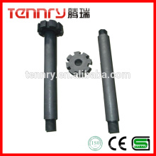 Degassing Working Tools Anti-Oxidant Graphite Rotors and Shafts Supplier