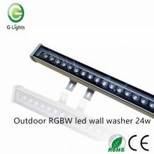 Наружная RGBW светодиодная настенная шайба 24w