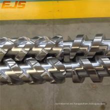 cilindro/cónico doble tornillo de extrusión tornillo barril/doble tornillo y barril