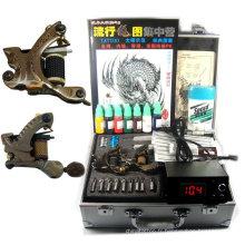 Kit professionnel de tatouage complet avec 3 pistolets / puissance / aiguilles / encre