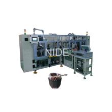 Quatre stations avec type de convoyeur automatique Stator Coil Lacing Machine
