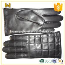 Vente en gros de peau de mouton noir à manches courtes en cuir à main courte