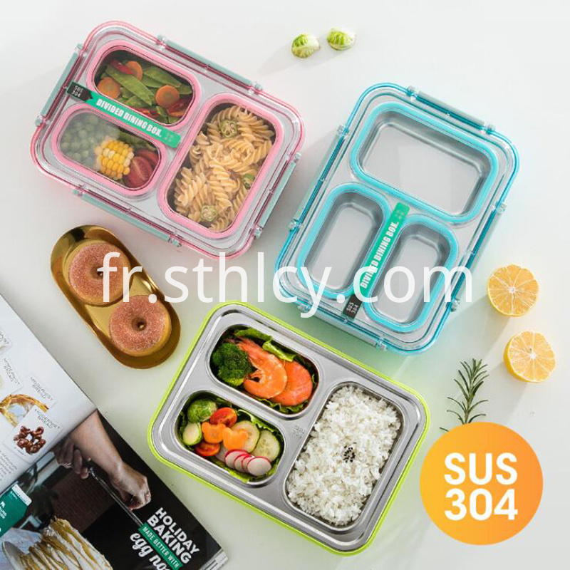304 Stainless Steel Leakproof Bento Lunch Box